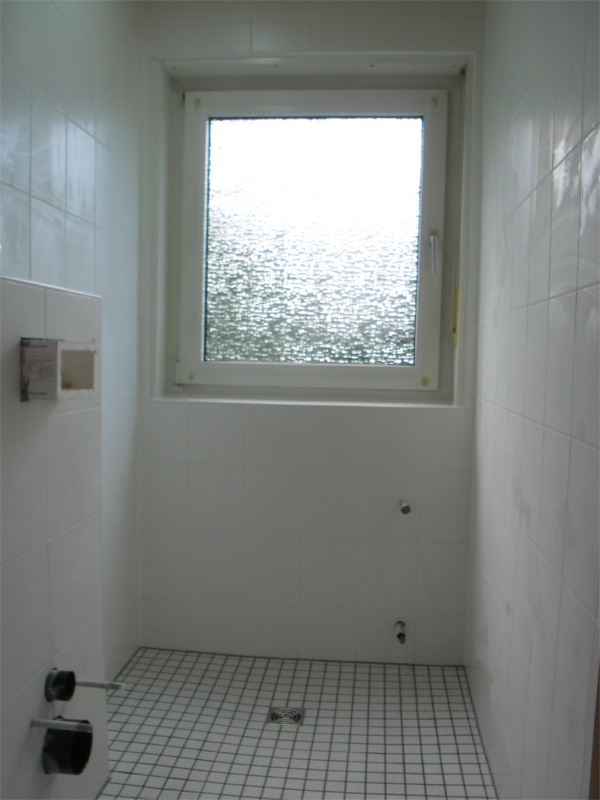Barrierefreies Tageslichtbad - während des Umbaus